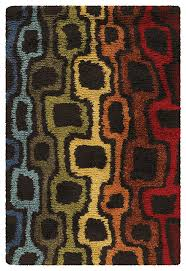 chandra splash spl027 rug brown red orange yellow green blue contemporary area rugs by arearugs