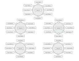 wedding reception seating chart template luxury elegant classroom round tables table