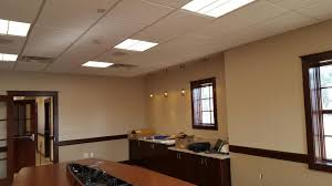 office space lighting. Commercial Electrical Services - LNB Office Space Lighting Installed In Fairport