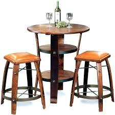 rustic patio bistro set table height attractive and chairs