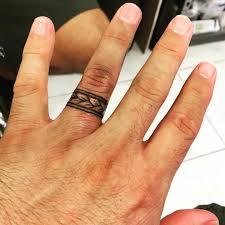 Wedding Band Ring Tattoo Design Hawaii Ring Finger Tattoos