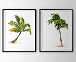 palm tree art a010 set of 2 art prints 8x10 palm on palm tree wall art set with amazon palm tree art a010 set of 2 art prints 8x10 palm