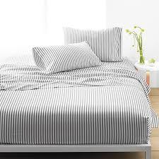 Marimekko Ajo Grey Stripe Percale Bedding