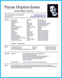 Actor Resume Template Gives You More Options On How To Write Your Actors  Resume  Song