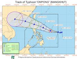 Typhoon Tracking Chart Will Typhoon Ompong Be The Same As Super Typhoon Lawin