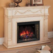 classic flame gossamer infrared fireplace mantel anitque ivory from hayneedle com