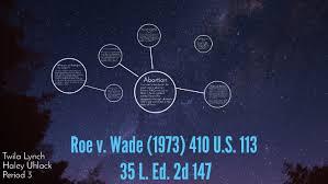 Roe v. Wade (1973) 410 U.S. 113 by Haley Uhlack