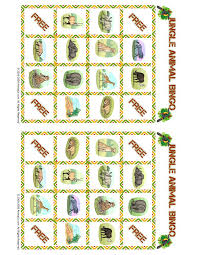 jungle bingo playing cards set 4