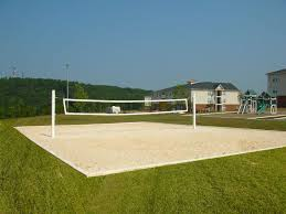 Backyards  Awesome Sand Volleyball Court Right Near The Dorms 97 Backyard Beach Volleyball Court