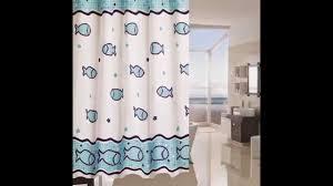 Printed Fish Shower Curtain Ideas by betterbuildingsnh.com