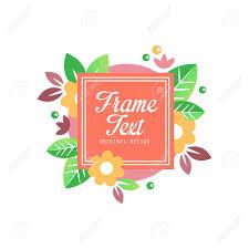 Flourishes Frame Original Design Elegant Floral Badge Template