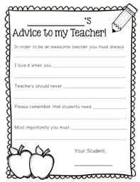Advice Letters For Teacher Next Years Class Of Students