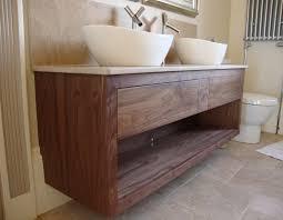 american black walnut twin sink bathroom unit