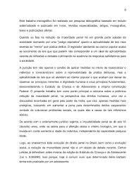 reduo da maioridade penal no brasil monografia