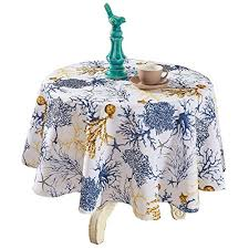 boxed fern flannel backed vinyl tablecloth indoor outdoor 60 inch round taupe kitchen dining ze3hp99bb