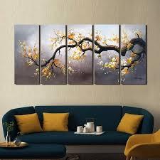 5 piece canvas art set blossom hand painted 5 piece gallery 5 piece canvas art set