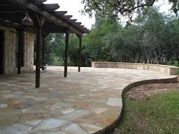 stone patio cost best flagstone patio