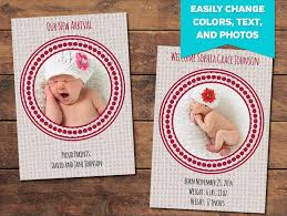 birth announcement templates blog canvas birth announcement template photographypla net