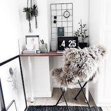 workspace furniture office interior corner office desk. minimal office nook with cozy fur chair workspace furniture interior corner desk