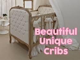 unique crib with custom baby bedding