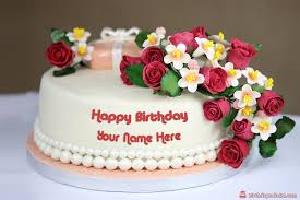 Download Red Rose Birthday Cake With Name Online