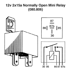 v xa normally open mini relay for vintage classic cars view print wiring diagram