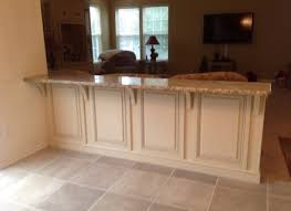 knee wall countertop kitchen