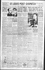 Aug. 20 Post-Dispatch page 1: The stories of the day from decades gone by    Post-Dispatch Archives