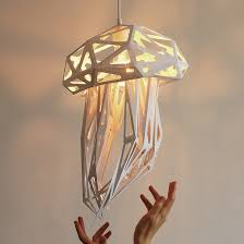 bring the deep sea to life with jellyfish light shade throughout fixture design 17 diy fiber optic jellyfish chandelier