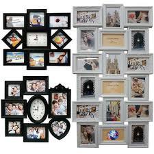 modern large multi photo picture clock