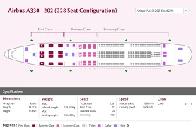 Airbus A330 Seating Chart Thai Airways Qatar Airways Airlines Airbus A330 200 Aircraft Seating