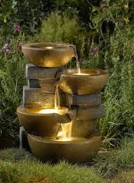 lighted garden fountains 183 best water fountain water features images on