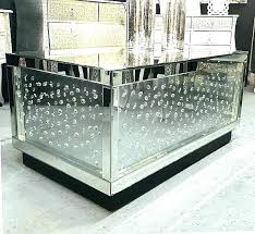 floating glass coffee table crystal mirror mirrored stunning