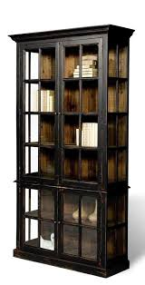 modern black bookcase distressed finish rustic solid wood free gorgeous bookcases with glass doors intended for
