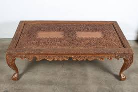 20th century anglo indian hand carved coffee table for
