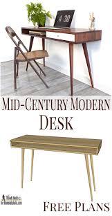 Diy Mid Century Modern Dining Table Remodelaholic Diy Mid Century Modern Desk