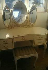 Queen Anne Bedroom Furniture Vintage Queen Anne Chic Vanity Table U0026 Stool  ...