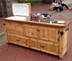 patio cooler plans outdoor bar diy home design ideas deck stand build wood rustic 960