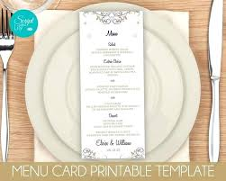 Gold Snowflake Menu Card Templates Winter Wonderland Wedding Dinner