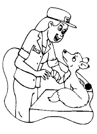 free printable community helpers clip art     community helper coloring pages a veterinarian checking a weasel clipart