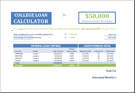 Loan Calculator College 15 Business Financial Calculator Templates For Excel Excel