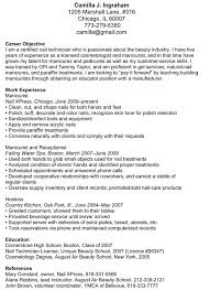 Nail Technician Resume Example Examples Of Resumes