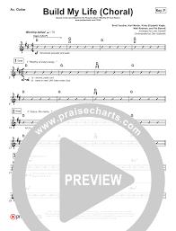 Build My Life Choral Rhythm Acoustic Guitar Chart