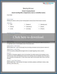 Minutes Of The Meeting Sample Business Meeting Minutes Templates Lovetoknow