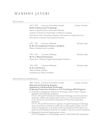 Sample Resume Format For Teachers Free Resumes Tips