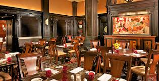 the dining room at the algonquin hotel