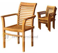 teak stackable chairs outdoor garden