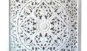 carved wall decor white carved wall decor leaf wood art panel french country by shabby
