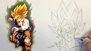 Comment Dessiner Goku Ssj Dragon Ball Z Youtube