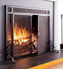 ornamental fireplace screens with doors safety fireplace screens with glass doors